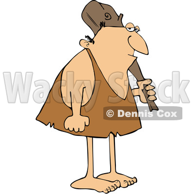 Cartoon Neanderthal with a Club © djart #1651973