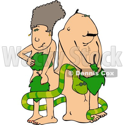 Adams and Eve with Serpent Clipart © djart #4156