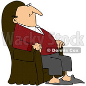 Royalty-Free Vector Clip Art Illustration of a Content Man Relaxing In An Armchair © djart #1053006