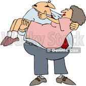 Clipart Man Carrying His Lady - Royalty Free Vector Illustration © djart #1065021