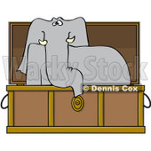 Clipart Elephant Rising In A Coffin - Royalty Free Vector Illustration © djart #1081322
