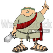 Roman Soldier Holding a Sword Clipart Picture © djart #11250