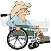Clipart of a Senior Cowboy in a Wheelchair - Royalty Free Illustration © djart #1244356