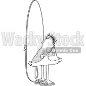 Clipart of a Black and White Hairy Caveman Surfer Holding a Thumb up and Standing with a Board - Royalty Free Vector Illustration © djart #1287478