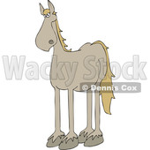 Clipart of a Cartoon Beige Horse - Royalty Free Vector Illustration © djart #1417663