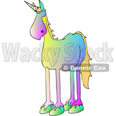 Clipart of a Cartoon Gradient Colorful Unicorn - Royalty Free Vector Illustration © djart #1417668