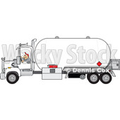 Clipart of a Trucker Driving a Propane Tanker - Royalty Free Vector Illustration © djart #1479767