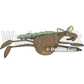 Cartoon Moose Super Hero Flying © djart #1622768