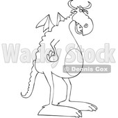 Cartoon Black and White Dragon © djart #1633279