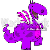 Cartoon Happy Purple Dragon © djart #1633284