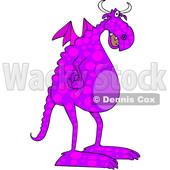 Cartoon Spotted Purple Dragon © djart #1633285