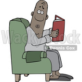 Cartoon Black Man Reading in a Chair © djart #1643635
