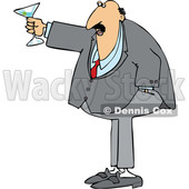 Cartoon Chubby White Businessman Toasting © djart #1644329