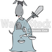 Cartoon Dog Lady Justice © djart #1652647