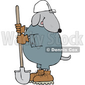Cartoon Dog Worker with a Shovel © djart #1652651