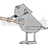 Cartoon Dog Using a Ruler © djart #1652652