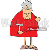 Cartoon Mad Granny Flipping the Bird © djart #1658725