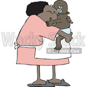 Cartoon Granny Holding a Baby © djart #1658827