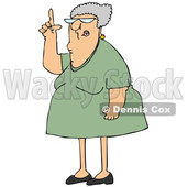 Cartoon Senior Woman Pointing up © djart #1661607