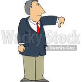 Business Man Holding a Thumb down © djart #1665683