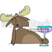 Depressed Moose Holding a Cocktail © djart #1668266