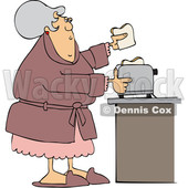 Cartoon Lady Making Toast © djart #1669143