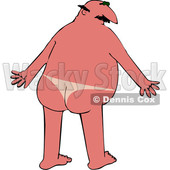 Cartoon Chubby Nude Man with a Sun Burn on His Back Side © djart #1686239