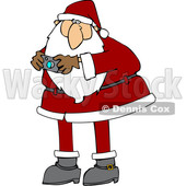 Cartoon Santa Claus Taking a Picture © djart #1692269