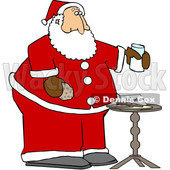 Cartoon Santa Enjoying a Snack © djart #1692316