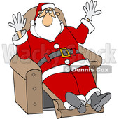 Christmas Santa Claus Kicking Back in a Recliner © djart #1693417