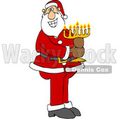 Cartoon Santa Claus Holding a Menorah © djart #1693812