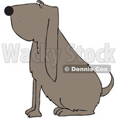 Cartoon Sitting Bloodhound Dog © djart #1693815