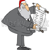 Cartoon Rabbi Santa Claus Reading a Good List © djart #1693816