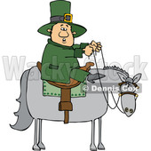 Cartoon Leprechaun Riding a Horse © djart #1695724