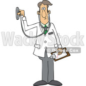 Cartoon Male Doctor Using a Stethoscope © djart #1696511