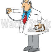 Cartoon Male Doctor Using a Stethoscope © djart #1696512