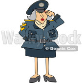 Cartoon Army Woman Saluting © djart #1698618