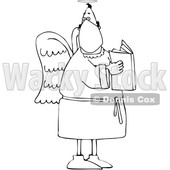 Cartoon Black and White Male Angel Wearing a Mask © djart #1705734