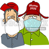 Cartoon Trump Supporters Wearing Face Masks © djart #1705744