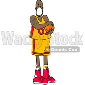 Cartoon Basketball Player Wearing a Mask © djart #1705750