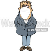 Cartoon Sick Man Wearing a Mask © djart #1708722