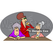 Cartoon Old Women Drinking Whiskey and Smoking © djart #1715742