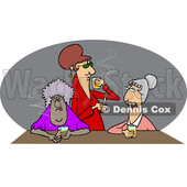 Cartoon Old Ladies Drinking Whiskey and Smoking © djart #1715743