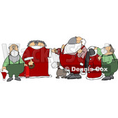 Cartoon Santa Getting Ready for a Corona Virus Christmas © djart #1719025