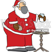 Cartoon Covid Santa with a Christmas Snack © djart #1719190