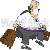 Cartoon Coronavirus Vampire Traveler Wearing a Mask © djart #1719512