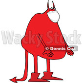 Cartoon Covid Devil Wearing a Mask © djart #1721039