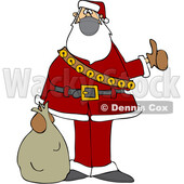 Cartoon Covid Christmas Santa Hitchhiking © djart #1721367