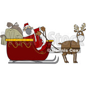 Cartoon Covid Santa and Masked Reindeer © djart #1722028