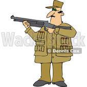 Cartoon Man Aiming a Shotgun © djart #1726971